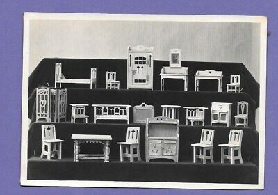 DOLLS HOUSE FURNITURE SAMPLES ORIGINAL VINTAGE OLD PHOTO 14x9cm GQ