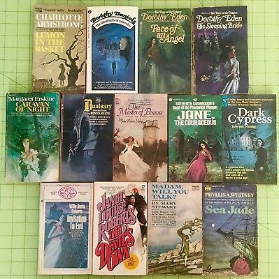 Gothic Romance Book Lot Of 13 -  The Devils Own Ace Heath Noone Paperback Novels