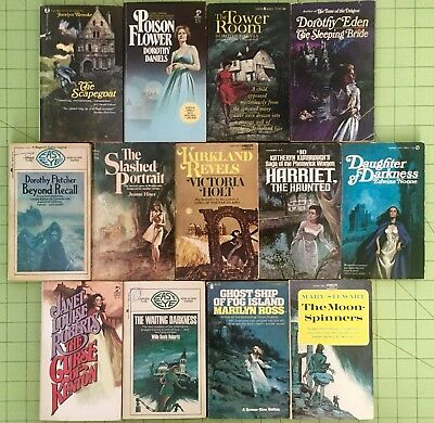 Gothic Romance Book Lot Of 13 - Lancer Ace Hines Ross Daniels Paperback Novels