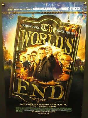 World's End Original DS 1sh Poster 2013 Simon Pegg Edgar Wright Rolled