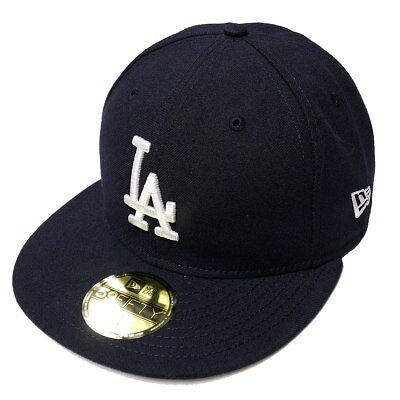info for 2599c 65bbb New Era MLB Los Angeles Dodgers Basic Navy White Cap 59FIFTY Hat
