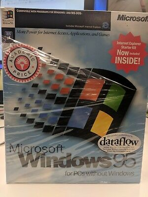 New Microsoft Windows 95 Retail Software 3.5 Collector Item!