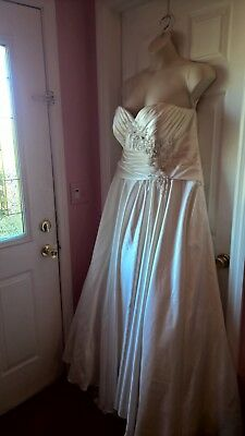 Plus 22 Ivory Ruched Allure Bridal Wedding Gown