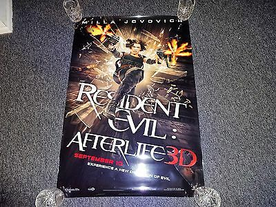 Authentic Resident Evil Afterlife D/s 27X40 Movie Poster