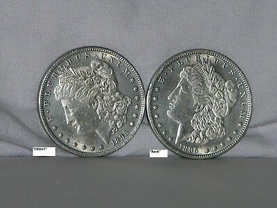2 Headed Morgan Dollar Two Face Trick Coins 1895 2 Heads Brilliant w/ FREE Gift