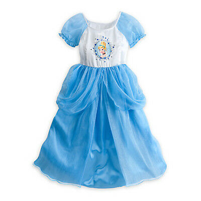 NWT Disney Store Cinderella Deluxe Nightgown Princess 5/6 7/8 9/10 Costume Gown
