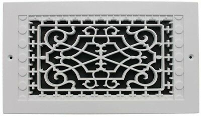 Victorian Wall Mount 8 x 14 in. Polymer Decorative Return Heat Air Vent Grille