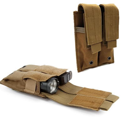 Molle Double Magazine Pouch Pistol Mag Pouch For Outdoor Tactical Hunting