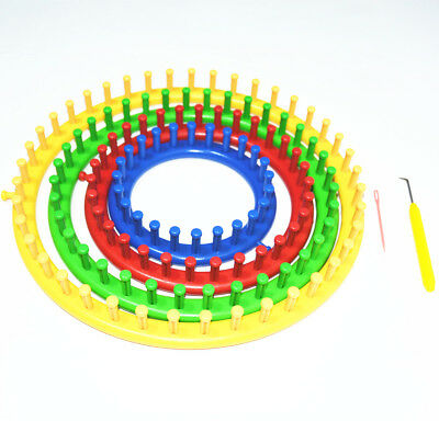 4pcs DIY Plastic Round Shaped Hat Knitter Circular Knitting Looms in 4 Size