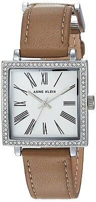 Anne Klein Women's Quartz Metal and Leather Dress Watch, Color:Brown (Model:...