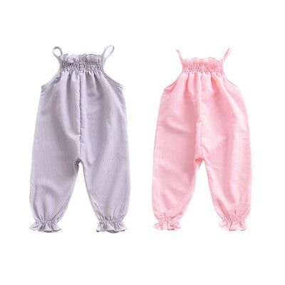 Summer Toddler Kids Baby Girls Clothes Romper Jumpsuit Bodysuit Pants Trousers