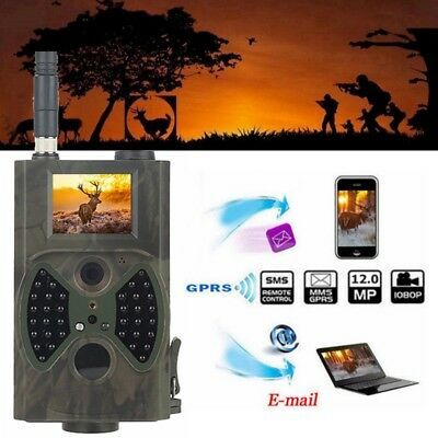 HC-300M 12MP HD 2G MMS SMTP GPRS IR Trail Hunting Camera with 8/16/32GB TF Card