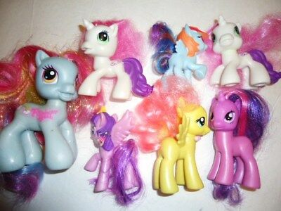 Lot of 7 small 2000s MY LITTLE PONY ponies pretend play figures horses
