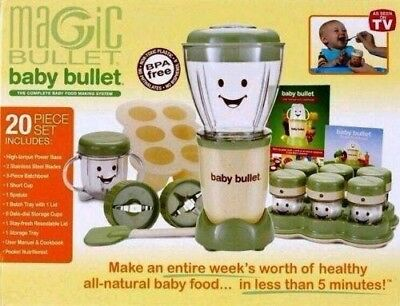 Magic Bullet Baby Bullet 20pc Complete Baby Food Making System BPA Free NEW