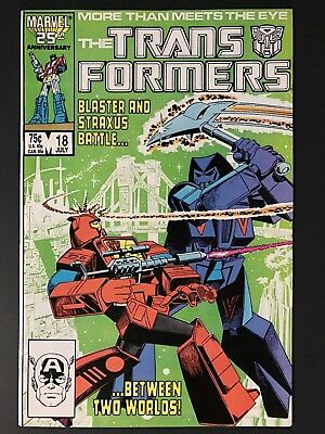 1986 Marvel THE TRANSFORMERS # 18, 1st Crosscut Appearance, Very Fine/Near Mint!