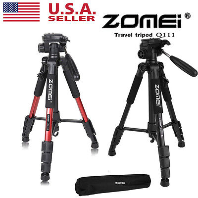 ZOMEI Q111 Professional Aluminum Tripod&Pan Head Portable For DSLR Camera LOT OY