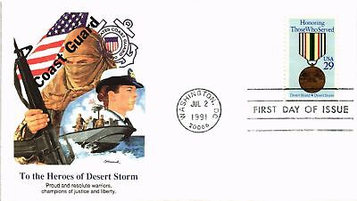 Dr Jim Stamps Us Cover Heroes Of Desert Storm First Day Of Issue 1991