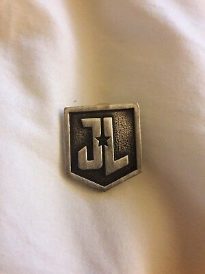 Justice League (2017) Movie Logo Pin Metal Lapel Props Official Theatrical SWAG