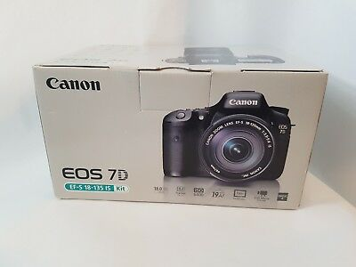 BOX ONLY FOR CANON EOS 7D CAMERA & EF-S 15-135MM IS KIT - empty box