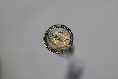 Uk Gb 3 Pence 1904 Silver Toned A77 #8008