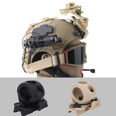 Tactical Clip Mount Adapter Helmet Military Airsoft Flashlight Clamp W/ Screw DY