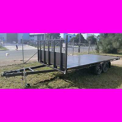 16x8 foot table top trailer flatbed tandem trailer flat top machinery trailer