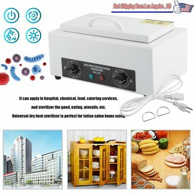 Dry Heat Sterilizer Cabinet Medical Dental Lab Vet Tattoo Autoclave Magnifier Oy
