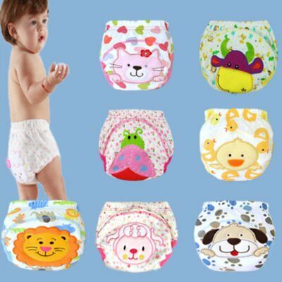 Cute Reusable Baby Infant Kid Training Pants Waterproof Cloth Diaper Nappy Cover