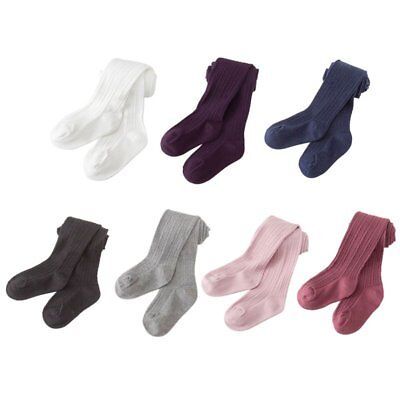 0-8Y Toddler Baby Kids Girls Cotton Warm Pantyhose Socks Soild Tights Stockings