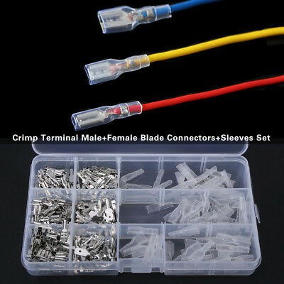 270x Non-insulated Mixed Male and Female Spade Crimp Terminal Connector Set ark