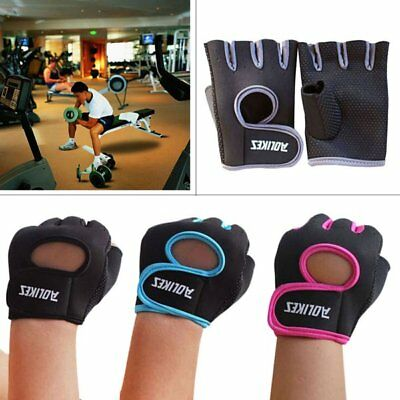 AU Womens Mens Fitness Exercise Workout Weight Lifting Sport Gym Training Gloves