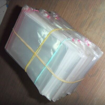 200Pcs Clear Small Plastic Bag Self Adhesive Seal Fit Jewelry Bag Package 6x11cm