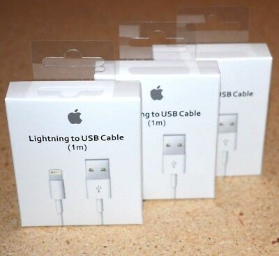 3 Pack 1M/3FT Original Apple iPhone 6S Plus 5SE 5C Lightning USB Cable Charger