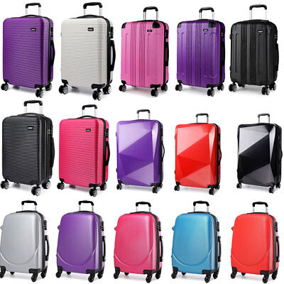 20'' Hard Shell Cabin Suitcase Lightweight Trolley Luggage 4 Wheel Hand Case
