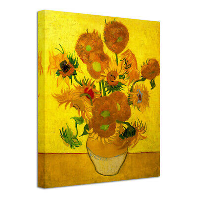 Van Gogh Canvas Print Painting Reproduction Photo Poster Picture Sunflowers Vase