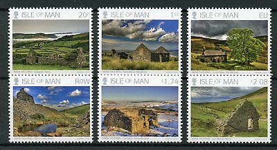 Isle of Man IOM 2018 MNH Manx Tholtans Ray Kelly 6v Set Architecture Stamps