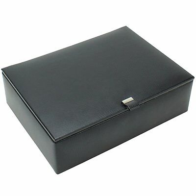 Dulwich Designs 8 Piece Leather Watch Box Grey