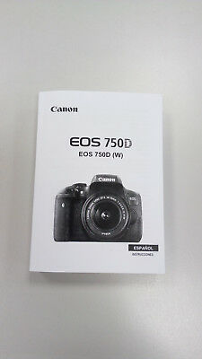 Manual Canon EOS 750D (Castellano)