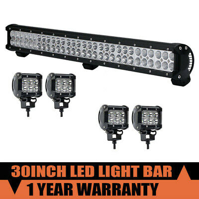 "32inch 30"" 180w  LED Light Bar Spot Flood Combo For SUV Jeep Truck 32"