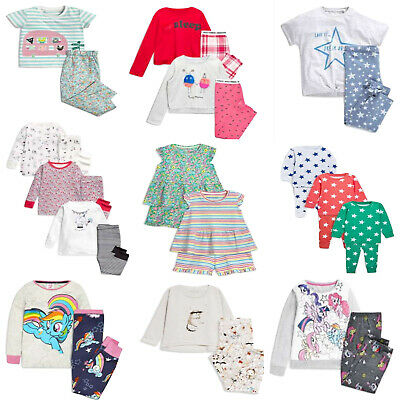 NEXT Girls Pyjamas Pjs Sets Nightwear Ditsy Cats Animal Pony Star Monster BNWT