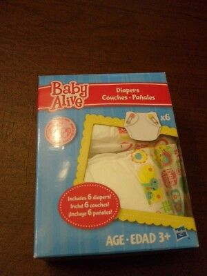 Doll Diapers for Baby Alive Doll Brand new 6 Count