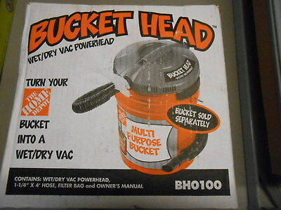 Bucket Head Wet/Dry Vac Portable Pro Vacuum Cleaner 5-Gal 1.75 HP  (2E/1665)