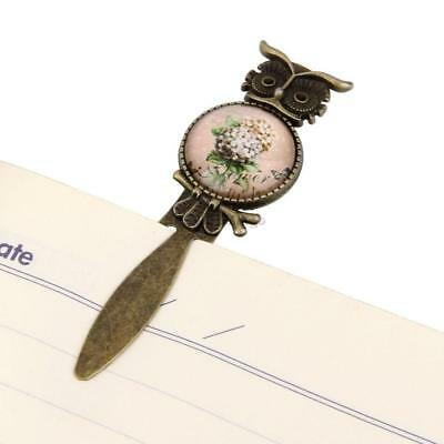 Owl Bookmark Clip Note Book Read Novelty Gift Flower Bouquet Antiqued