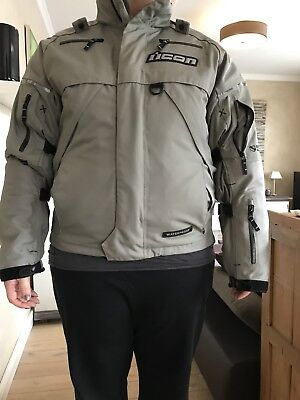 Icon Raiden Waterproof Motorradjacke Gr. XL