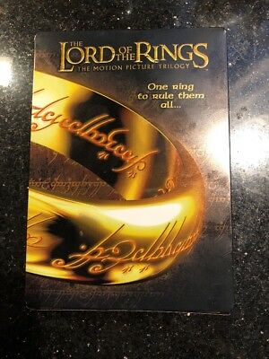 THE LORD OF THE RINGS The Motion Picture Trilogy DVD 6-Discs STEELBOOK Open Box