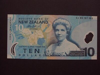 NEW ZEALAND 10 DOLLARS ND (2007) PIC 186 b.  UNC BANKNOTE
