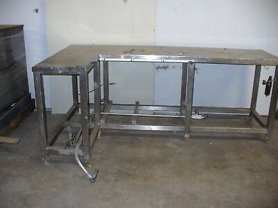 """Heavy Duty Stainless Steel Work Table 46.75"""" x 82.25"""" x 33"""""""