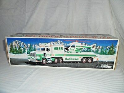 1995 Hess Toy Truck with Helicopter