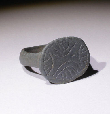 High Quality Medieval Bronze Ring Circa 14Thc  - No Reserve!!!!!!!