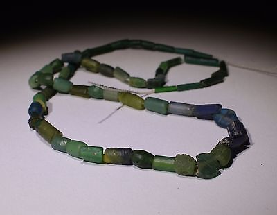 Ancient Roman Glass Bead Necklace Circa 2Nd Century Ad - No Reserve!!!